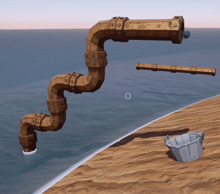 Water pipeline setup on the Beginners Guide to Hydroneer guide