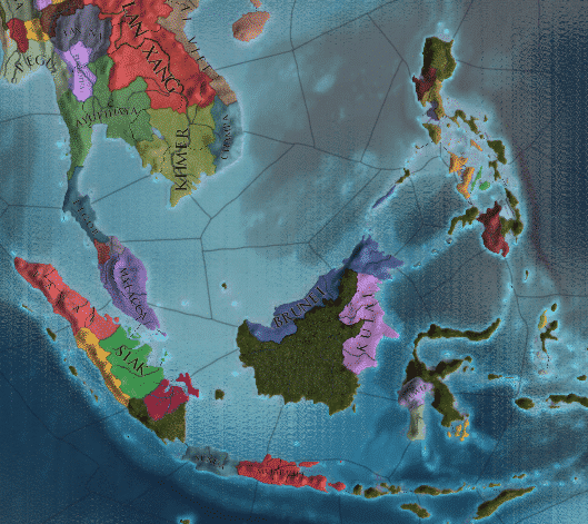 Colonial Spice islands in the game Europa Universalis 4