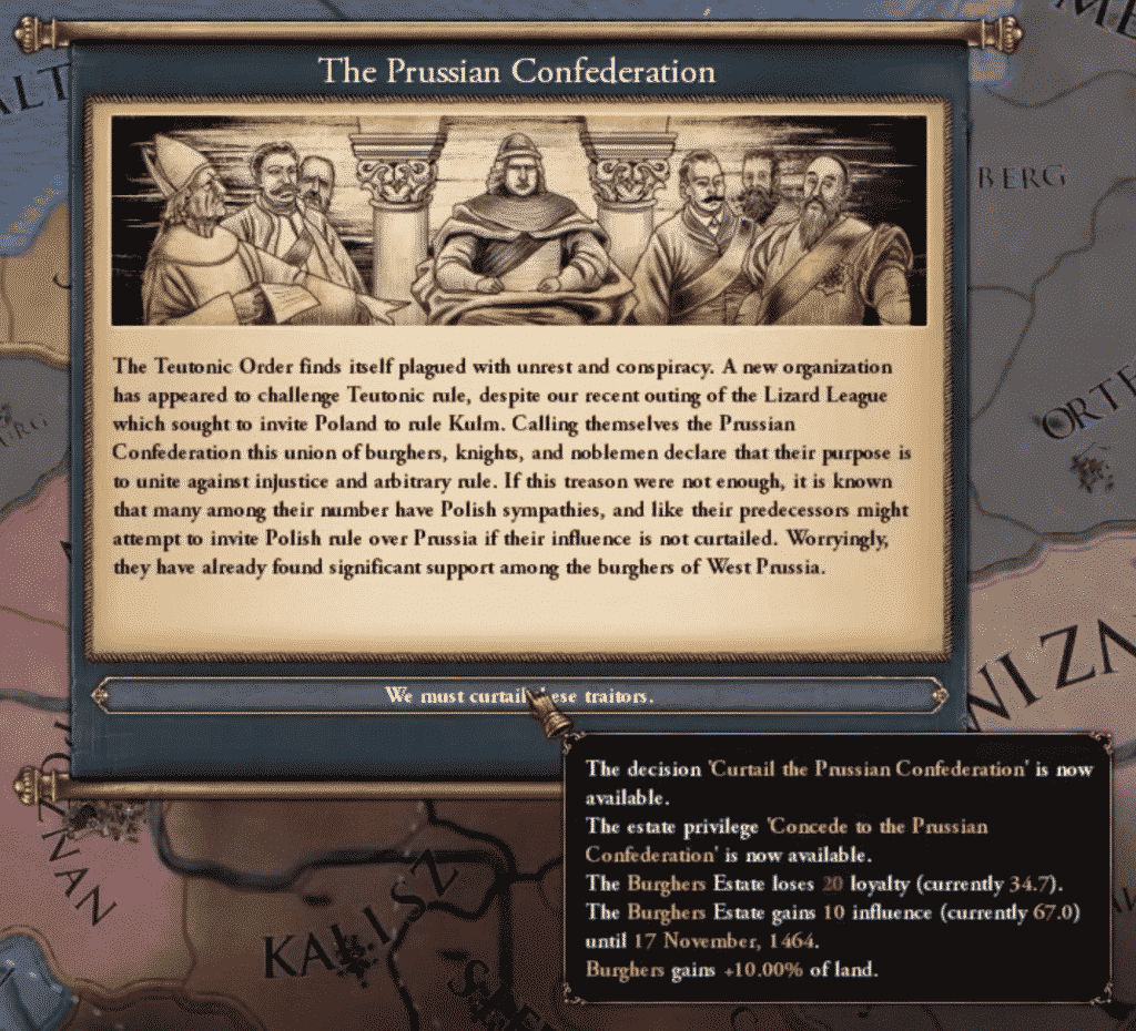 Teutonic Order The Prussian Confederation Event